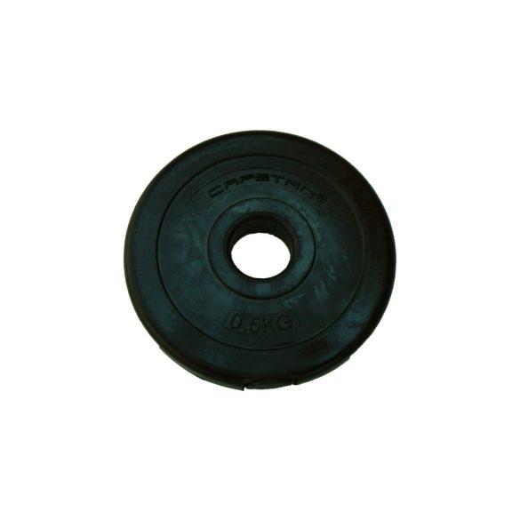 Capetan® 0,5Kg Vinyl tárcsasúly - 0,5kg cementes súlytárcsa (1db), méret:14x2,5cm