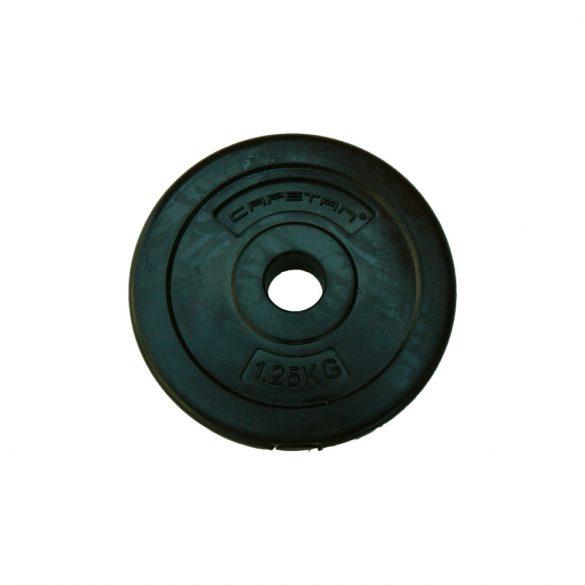 Capetan® 1,25Kg Vinyl tárcsasúly - 1,25kg cementes súlytárcsa (1db) méret:18x3cm