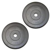 Capetan® 2,5Kg Vinyl tárcsasúly - 2,5kg cementes súlytárcsa (1db), méret:22x3,8cm