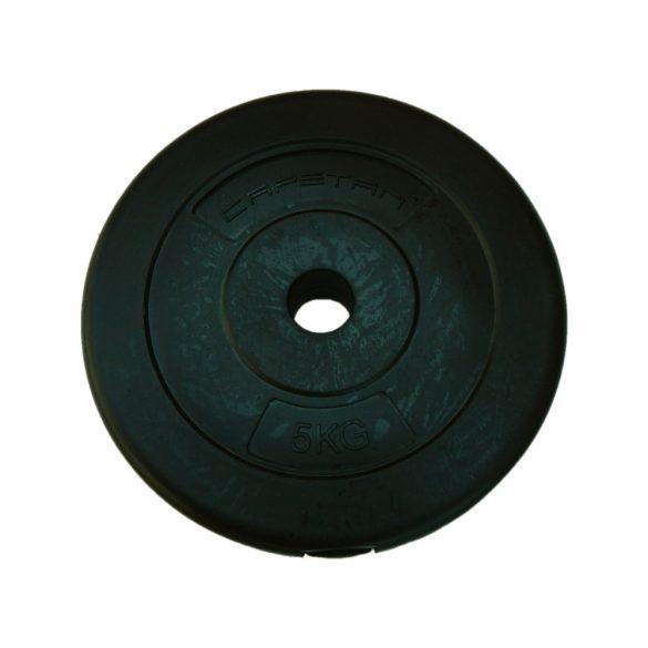 Capetan® 5Kg Vinyl tárcsasúly - 5kg cementes súlytárcsa (1db)
