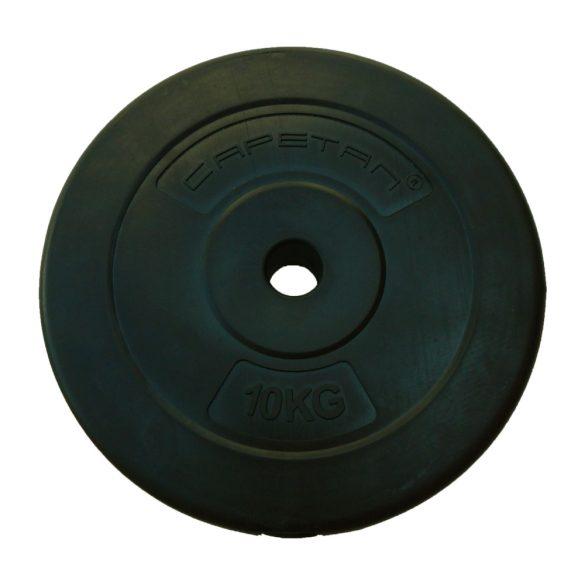 Capetan® 10Kg Vinyl tárcsasúly - 10kg cementes súlytárcsa (1db), tárcsaméret: