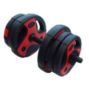 Capetan® 10Kg bővíthető egykezes súlyzó Dual Tone / vynil tárcsákkal