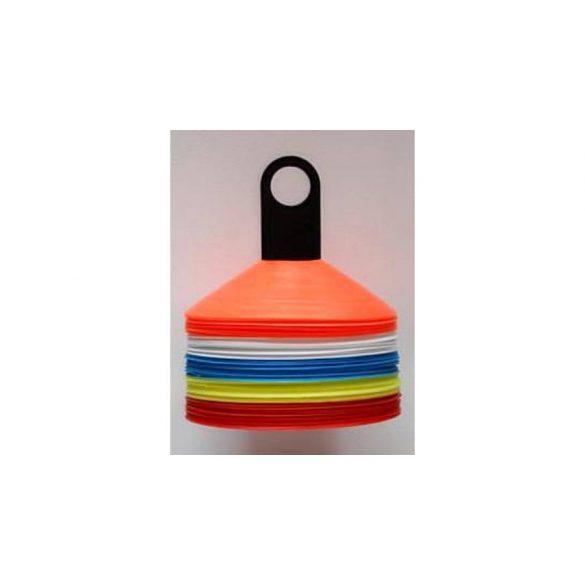 Capetan® 50db-os jelzőbója szett bottartó bevágással, tartóoszloppal 5 színű bójával - tányérbója szett rúdtartós