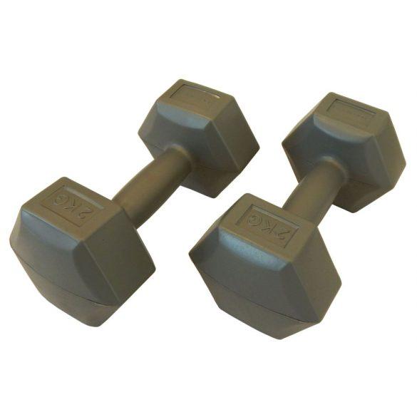 Capetan® 2x2kg cementtel töltött műanyag kézisúlyzó pár