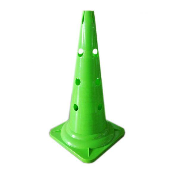 Capetan® 50cm magas zöld színű bója bottartó bevágással  a tetején, 12db lukkal az oldalán