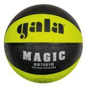 Gala Magic No. 7 kosárlabda neon zöld/fekete panel