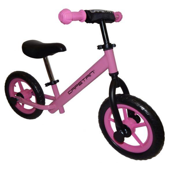 """Capetan® Energy Pink színű 12"""" kerekű futóbicikli - pedál nélküli gyermekbiciklikli"""