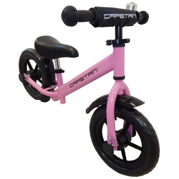 """Capetan® Energy Plus Pink színű 12"""" kerekű futóbicikli sárhányóval és csengővel - pedál nélküli gyermekbicikli"""