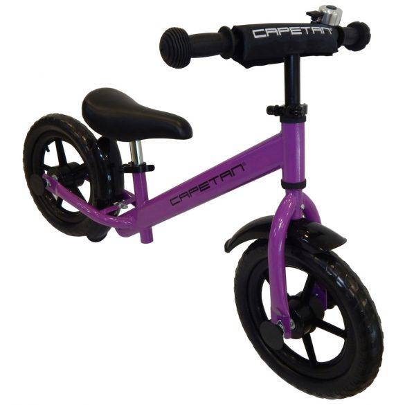 """Capetan® Energy Plus Lila színű 12"""" kerekű futóbicikli sárhányóval és csengővel - pedál nélküli gyermekbicikli"""