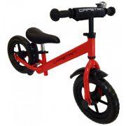 """Capetan® Energy Plus Piros színű 12"""" kerekű futóbicikli sárhányóval és csengővel - pedál nélküli gyermekbicikli"""