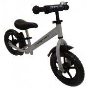 """Capetan® Energy Plus Ezüst színű 12"""" kerekű futóbicikli sárhányóval és csengővel - pedál nélküli gyermekbicikli"""