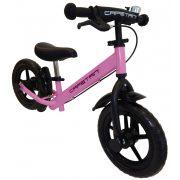 """Capetan® Neptun Rózsaszín színű, fékkel ellátott 12"""" kerekű futóbicikli sárhányóval és csengővel - pedál nélküli gyermekbicikli"""