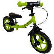 """Capetan® Sirius Premium Line Zöld színű, fékkel ellátott 12"""" kerekű futóbicikli sárhányóval és csengővel - pedál nélküli gyermekbicikli"""