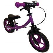 """Capetan® Sirius Premium Line Lila színű, fékkel ellátott 12"""" kerekű futóbicikli sárhányóval és csengővel - pedál nélküli gyermekbicikli"""