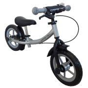 """Capetan® Sirius Premium Line Ezüst színű, fékkel ellátott 12"""" kerekű futóbicikli sárhányóval és csengővel - pedál nélküli gyermekbicikli"""