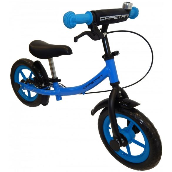 """Capetan® Sirius Premium Line Sötétkék színű, fékkel ellátott 12"""" kerekű futóbicikli sárhányóval és csengővel - pedál nélküli gyermekbicikli"""