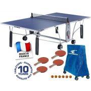 Cornilleau Sport 200 S (Soft Top) kültéri időjárásálló pingpong asztal - családi kiegészítő csomaggal, ingyenes házhozszállítással