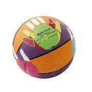 Kosárlabda No.5 gumi, a helyes kéztartás gyakorlásához kézmotívummal