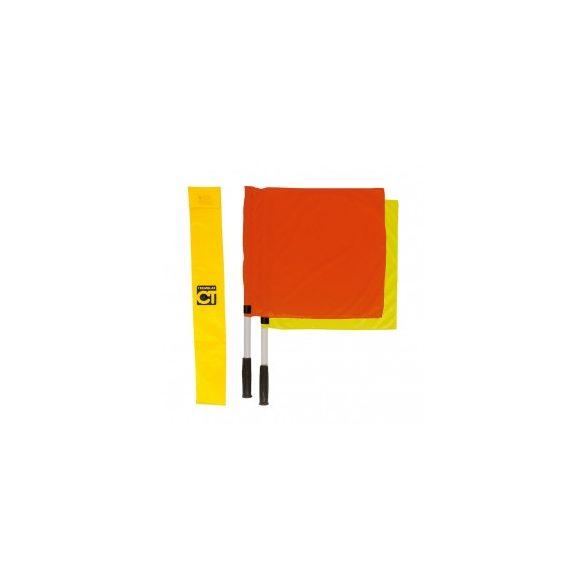 Vonalbíró zászló szett 1 db piros, 1 db sárga