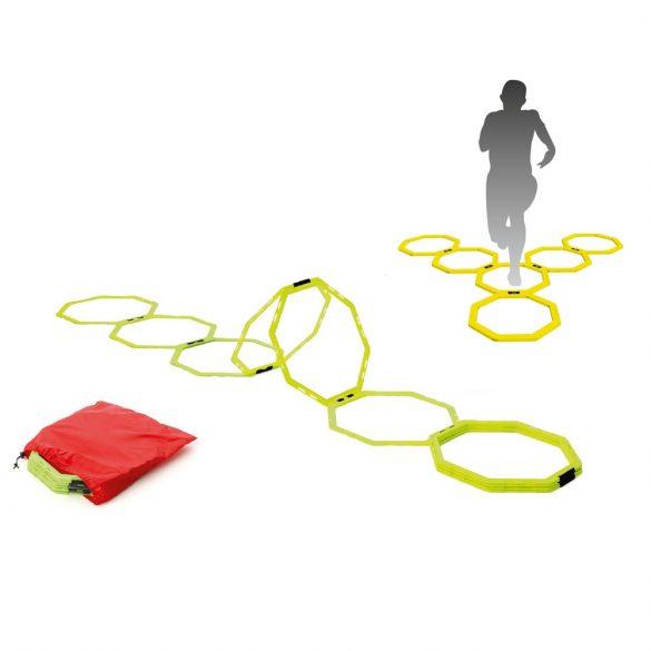 3D Koordinációs agility létra nagy szett 12 db nyolcszögletű elemmel