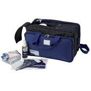 Elsősegély nyújtó orvosi táska , felszereléssel, sporttáska kivitel 38x24x24 cm méret
