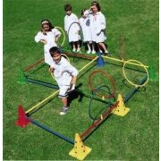 Tactic Sport Multisaltarello pszichomotorikus mozgáspark, 50 cm-es bójákkal