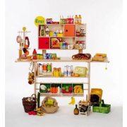 Boltos pult fából  boltos szerepjátékokhoz az árusított termékek nélkül