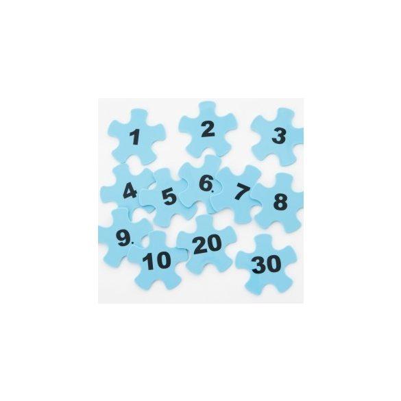 Zselés gumi lépegető kőhöz szám betét szett/12 db - Gonge