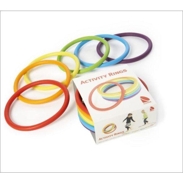 Activity rings készségfejlesztő karika 6 darabos készlet, rugalmas karika 16