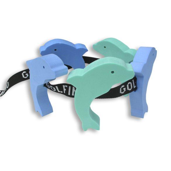 Úszóöv figurás 5 elemmel, gyermekeknek delfin forma 12 éves kor