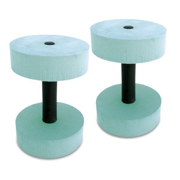 Aquafitness súlyzó pár kerek fejjel 15 cm átmérő, vízi súlyzó