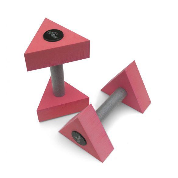Aquafitnesz súlyzó (pár) háromszög alakú fejjel, 16,5x6 cm