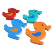 Úszó kacsák 4 db 28x23x3 cm hab vízi játék