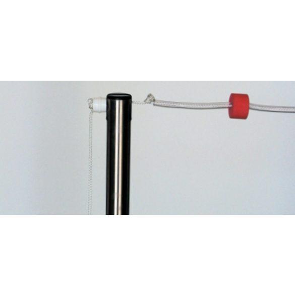 Hátúszó kötél szett zászlókkal , tartó oszlopokkal 2x25 m, 25 m medencébe két kötél sor felszerelésére hátúszás jelzősor