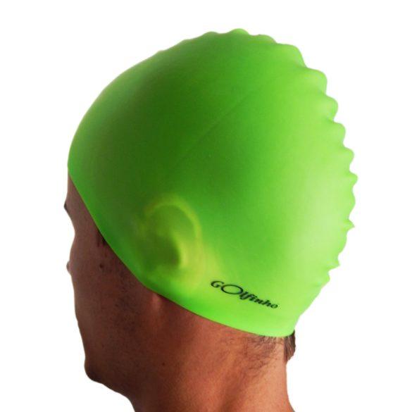 Úszósapka szilikon - Neonzöld - 50 gr, 100% szilikon