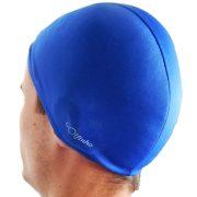 Úszósapka polieszter - Kék - elasztikus textil
