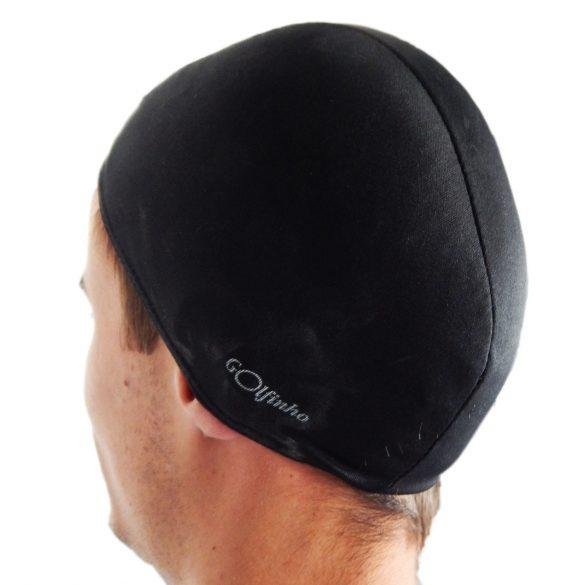 Úszósapka polieszter, fekete, elasztikus textil