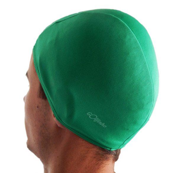 Úszósapka polieszter, zöld, elasztikus textil