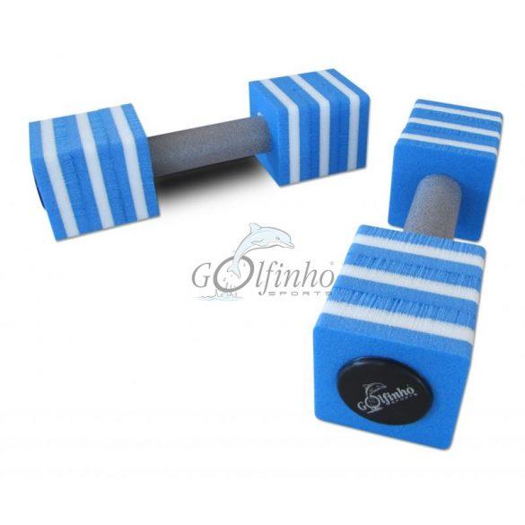 Aquafitness súlyzópár kocka formájú 8x8x9 cm fejjel