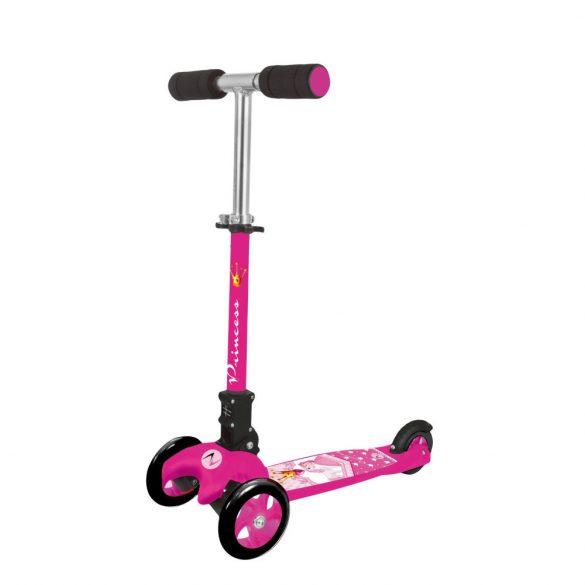 Nextreme Princess összecsukható 3 kerekű lányka fuchsia színű fékezhető alu roller ,120 mm pvc első dupla kerék, abec 7 csapágyazás