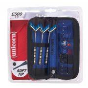 Unicorn E500 18 gr. súlyú kétcsillagos  dartsnyíl szett nikkel