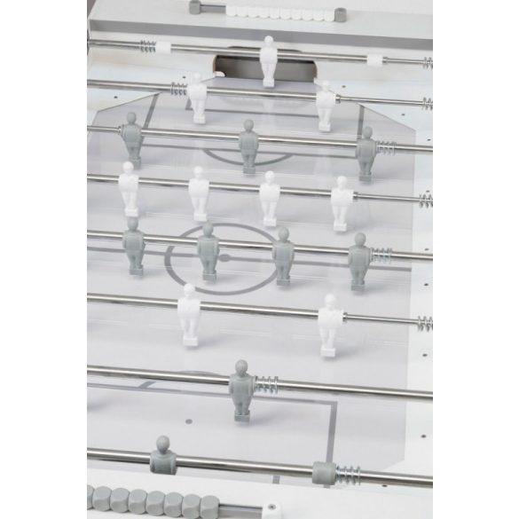 """Garlando G-500 """"Pure White"""" fehér-ezüst csocsóasztal átmenő rudazattal"""