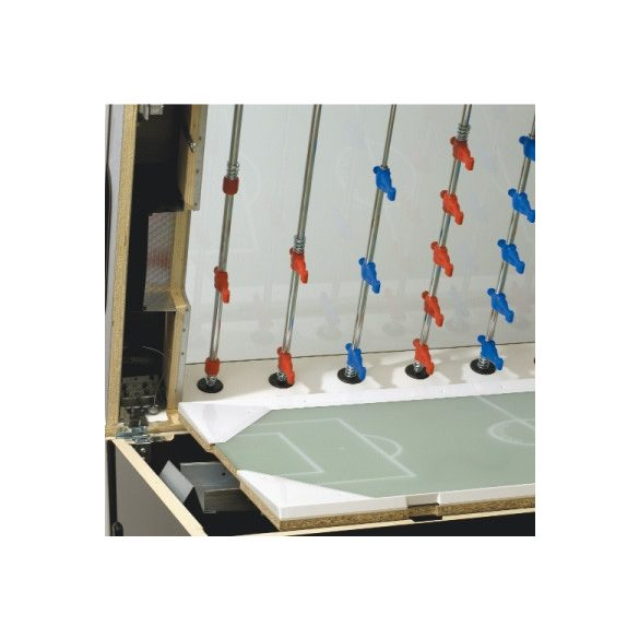Garlando Olympic - Olympia Silver zsetonos asztalifoci asztal átmenő rudazattal