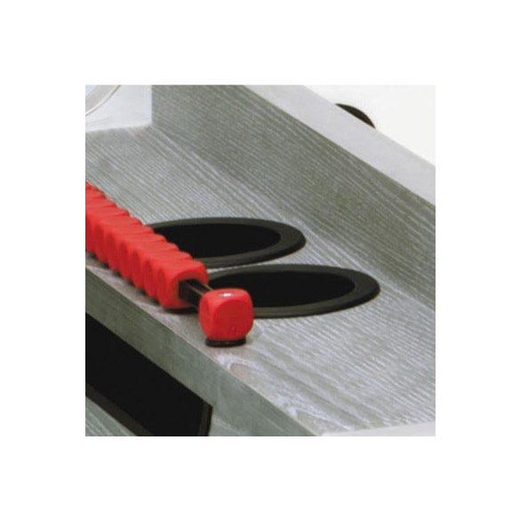 Garlando Olympic - Olympia Silver zsetonos asztalifoci asztal teleszkópos rudazattal