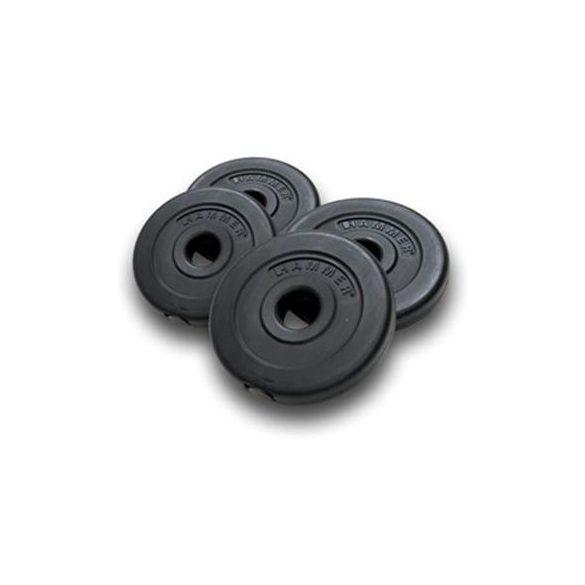 Gumírozott,cementtel töltött tárcsás súlyok(2 x 0,5 kg + 2 x 1,25 kg)