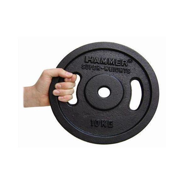 Fekete színű tárcsás súlyok (2 x 0,5 kg)