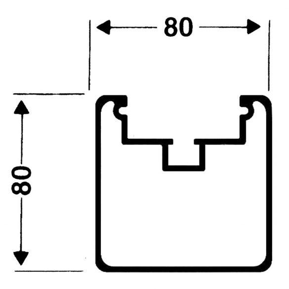 Alumínium junior 5x2 m focikapu,mozgatható (párban)