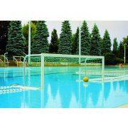 TACTIC SPORT verseny vízilabda kapu pár, szabadon úszó , behajtható hálótartóval