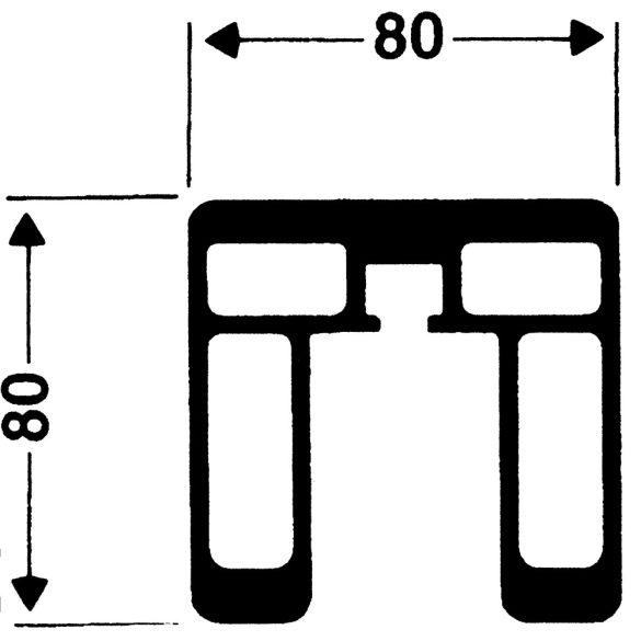 Alumínium röplabda hálótartó oszlop pár szögletes oszlop 80x80mm, verseny kivitel DVV1 modell