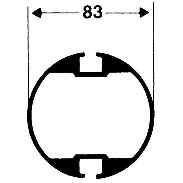 Strandröplabda hálótartó oszlop pár kerek profil 83x83mm , sárga porszórt